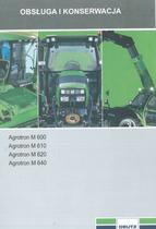 AGROTRON M 600 - AGROTRON M 610 - AGROTRON M 620 - AGROTRON M 640 - Obsluga i konserwacja