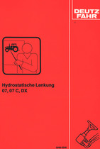 HYDROSTATISCHE LENKUNG 07 - 07 C - DX - Werkstatthandbuch