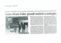 SAME Deutz-Fahr, grandi trattori a noleggio