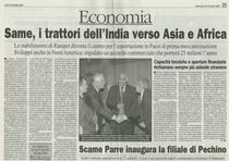 SAME, i trattori dell'India verso Asia e Africa