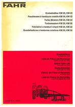 FAHR Kreiselmäher KM 20, KM 22 - Faucheuse à tambors rotatifs KM 20, KM 22 - Turbo mowers KM 20, KM 22 - Turbomaalers KM 20, KM 22 - Falciatrice a tamburi rotanti KM 20, KM 22 - Guadañadora a tambores rotativos KM 20, KM 22; Ersatzteilliste / Liste de Pièces de Rechange / Spare Parts List / Onderdelenlijst / Elenco dei Pezzi di Ricambio / Lista de Piezas de Recambio