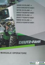 5060 D ECOLINE ->ZKDCS90200TD10001 - 5070 D ECOLINE ->ZKDCT30200TD10001 - 5080 D ECOLINE ->ZKDCT70200TD10001 - 5085 D ECOLINE ->ZKDCU10200TD10001 - Manuale operatore