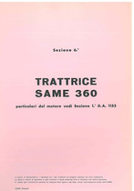 Sez. 6 - SAME 360 - Catalogo Parti di Ricambio / Catalogue de pièces de rechange / Spare parts catalogue / Ersatzteilliste / Lista de repuestos