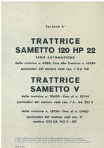 Sez. 3 - SAMETTO 120 HP 22 serie automazione - SAMETTO V - Catalogo Parti di Ricambio / Catalogue de pièces de rechange / Spare parts catalogue / Ersatzteilliste / Lista de repuestos