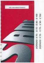 DORADO S 70 - 75 - 90 - 100 - DORADO V 70 - 75 - 90 - 100 - Use and maintenance