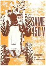 SAME 450 V - Libretto uso & manutenzione
