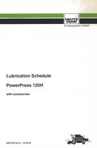 LUBRIFICATION SCHEDULE POWERPRESS 120 H - Operating instructions