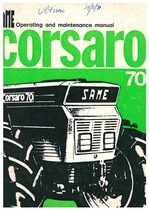 CORSARO 70 - Operating and maintenance