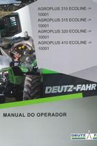 AGROPLUS 310 ECOLINE ->10001 - AGROPLUS 315 ECOLINE ->10001 - AGROPLUS 320 ECOLINE ->10001 - AGROPLUS 410 ECOLINE ->10001 - Manual do operador