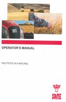 FRUTTETO³ 80.4 NATURAL - Operator's manual