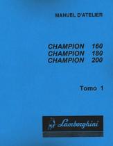 CHAMPION 160 - CHAMPION 180 - CHAMPION 200 - Manuel d'atelier