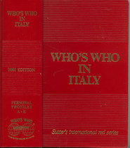 COLOMBO Giancarlo, WHO'S WHO IN ITALY, Zurich, Who's who edition, 2001