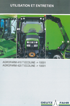 AGROFARM 410 T ECOLINE ->10001 - AGROFARM 420 T ECOLINE ->10001 - Utilisation et entretien