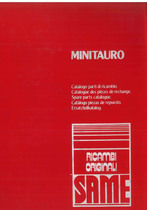 MINITAURO 60 - Catalogo Parti di Ricambio / Catalogue de pièces de rechange / Spare parts catalogue / Ersatzteilliste / Lista de repuestos