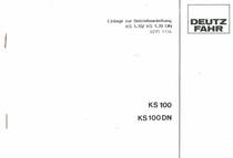 KS 100 - KS 100 DN - Einlage zur Betriebsanleitung KS 1.70/ KS 1.70 DN