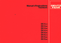 DX 4.10 - DX 4.30 - DX 4.50 - DX 4.70 - DX 6.05 - DX 6.10 - DX 6.30 - DX 6.50 - Manuel d'instructions