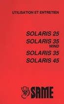 SOLARIS 25 - SOLARIS 35 WIND - SOLARIS 35 - SOLARIS 45 - Utilisation et entretien