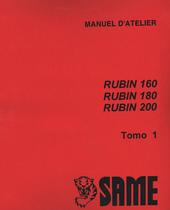 RUBIN 160 - RUBIN 180 - RUBIN 200 - Manuel d'atelier