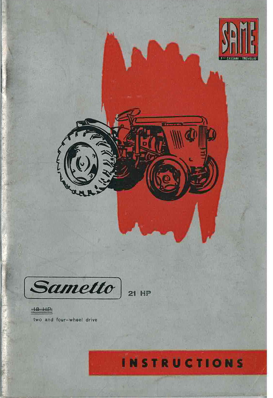 SAMETTO21 HP - Operating and maintenance