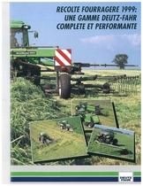 Recolte fourragere 1999: uine gamme Deutz - Fahr complete et performante