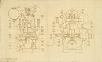 Motore MIB 701. Complessivo per pezzi di ricambio - Disegno 1270