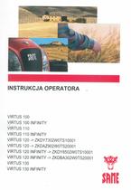 VIRTUS 100 - VIRTUS 100 INFINITY - VIRTUS 110 - VIRTUS 110 INFINITY - VIRTUS 120 ->ZKDY7302W0TS10001 - VIRTUS 120 ->ZKDAZ902W0TS20001 - VIRTUS 120 INFINITY ->ZKDY8502W0TS10001 - VIRTUS 120 INFINITY ->ZKDBA302W0TS20001 - VIRTUS 130 - VIRTUS 130 INFINITY - Instrukcja operatora