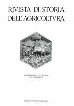 RIVISTA DI STORIA DELL'AGRICOLTURA, 2001