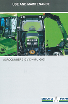 AGROCLIMBER 310 V C-N-M-L ->2001 - Use and maintenance