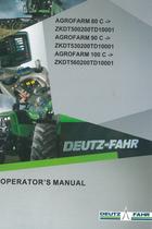 AGROFARM 80 C ->ZKDT500200TD10001 - AGROFARM 90 C ->ZKDT530200TD10001 - AGROFARM 100 C ->ZKDT560200TD10001 - Operator's manual