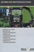 AGROKID 210 ->20001 - AGROKID 220 ->ZKDS2102V0MD20001 - AGROKID 220 ->ZKDS2902V0MD20001 - AGROKID 230 ->ZKDS2202V0MD20001 - AGROKID 230 ->ZKDS3002V0MD20001 - Betriebs und Wartungsanleitunge