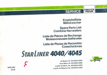 STARLINER 4040 - 4045 - Ersatzteilliste / Spare parts list / Liste de pièces de rechange / Lista de piezas de recambio