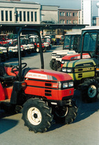 Trattori SAME Solaris 25, Hürlimann Prince 335, SAME Solaris 45 e trattori Lamborghini presso lo stabilimento di Treviglio