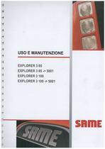 EXPLORER 3 85 - 3 100 - Libretto uso & manutenzione