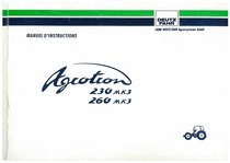 AGROTRON MK3 230-260 - Utilisation et Entretien