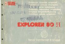EXPLORER 80 II - Catalogo Parti di Ricambio / Spare parts catalogue / Catálogo peças originais