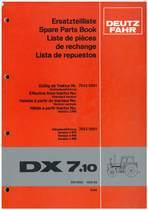 DX 7.10 - Ersatzteilliste / Spare Parts Book / Liste de pièces de rechange / Lista de repuestos