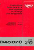 D 4507 C - Ersatzteilliste / Spare parts book / Liste de pièces de rechange / Lista de repuestos
