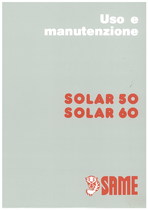 SOLAR 50 - SOLAR 60 - Libretto uso & manutenzione
