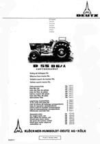 D 5506 A - Ersatzteilliste / Spare parts catalogue / Catalogue de pièces de rechange / Lista de repuestos