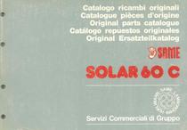 SOLAR 60 C - Catalogo Parti di Ricambio / Catalogue de pièces de rechange / Spare parts catalogue / Ersatzteilliste / Lista de repuestos