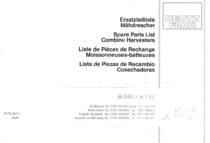 M 660-770 - Ersatzteilliste / Spare parts list / Liste de pièces de rechange / Lista de repuestos