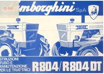 R 804 - 804 DT - Libretto Uso & Manutenzione