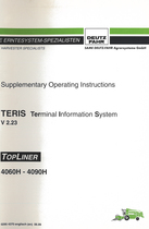 TERIS V 2.23 Terminal Informations System - TOPLINER 4060 H - 4090 H - Supplementary Operating Instructions