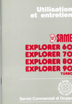 EXPLORER 60-70-80-90 TURBO - Utilisation et Entretien