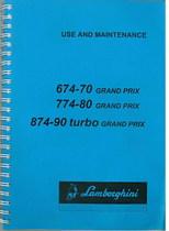 674.70 GRAND PRIX - 774.80 GRAND PRIX - 874.90 TURBO GRAND PRIX - Operating and Maintenance