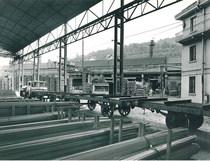 Samecar Elefante TS/W 4x4 adibito al trasporto di carri ferroviari sui binari alla Stazione di Sarmato