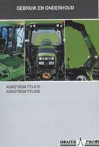 AGROTRON TTV 610 - AGROTRON TTV 620 - Gebruik en onderhoud