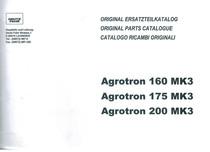 AGROTRON 160-175-200 MK3 - Original Ersatzteilkatalog / Original parts catalogue / Catalogo ricambi originali