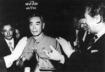 Dott. Michele Motta con il Primo Ministro della Repubblica Popolare Cinese Ciun En Lai e il Ministro per il Commercio con l'Estero on. Mario Zagari