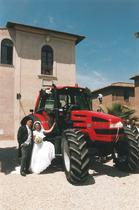 Trattore SAME Rubin 150 durante un matrimonio in Italia